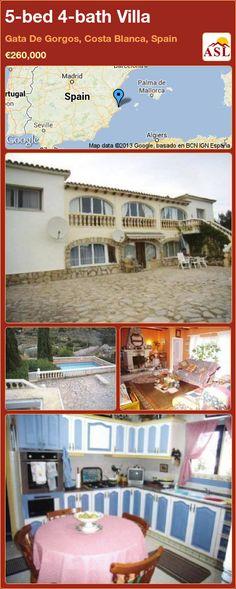 5-bed 4-bath Villa in Gata De Gorgos, Costa Blanca, Spain ►€260,000 #PropertyForSaleInSpain