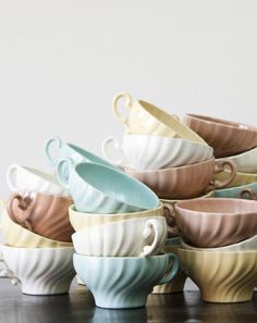 Tea cups from Casa De Perrin's huge collection of one-of-a-kind tabletop & decor rentals.