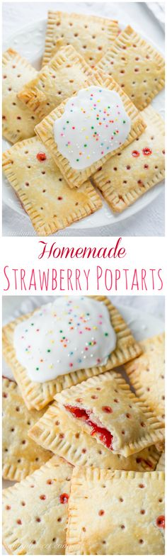 A flaky pastry filled with homemade strawberry jam or any of your favorite pie filling - Homemade Strawberry PopTarts