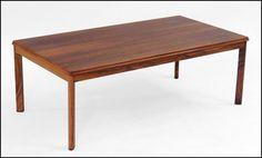 Rasmus Solberg Rosewood Cocktail Table: Lot 126-1105 #cocktailtable #solberg #rosewood #antique