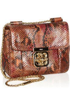 Chloé - Elsie python shoulder bag
