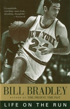 1995 paperback edition of Bill Bradley's 1976 book, 'Life on the Run'.
