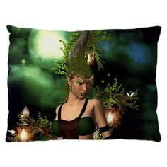 Beautiful fairy in the night Pillow Case by nicky - CafePress