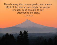 Nature quote. Mt. Hood at sunrise.