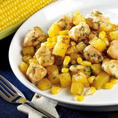 Chicken, Potatoes & Corn; Actifry recipe