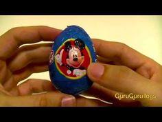 Kinder Egg Surprise Mickey Mouse Clubhouse Choco 2013 Easter Egg Huevo Kinder sorpresa Goofy Disney - YouTube
