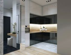 Apartament in Moscow on Behance Moscow, Bathroom Lighting, Divider, Mirror, Interior, Kitchens, Behance, Furniture, Home Decor