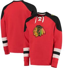 Chicago Blackhawks Majestic Big & Tall Centre Pullover Sweatshirt - Red