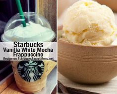 Vanilla White Mocha Frappuccino | Starbucks Secret Menu  If you're familiar with our recipes, you'll notice that some require quite a few ingredients or additions. The others like this Vanilla White Mocha Frappuccino, are sweet and simple. After all, sometimes less is more.  There's just one substitution, but it creates a whole new flavor. A delicious flavor since the syrups compliment each other so well!  As with many our recipes, this one can be enjoyed in both hot, iced or Frappuccino…