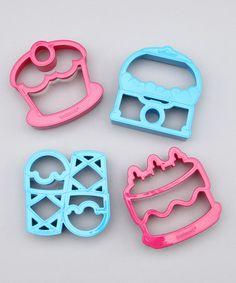 The Lunch Punch Pink & Blue 'SWEET' Sandwich Cutter Set