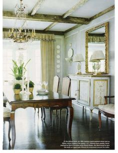 LOVE LOVE LOVE this dining table! :)  -db  \\\\  via: The Enchanted Home: Pretty posts to ponder........and a winner!