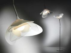 Lámpara de techo de Cristalflex® con brazo fijo GIRAFIORE | Lámpara de techo - Slamp