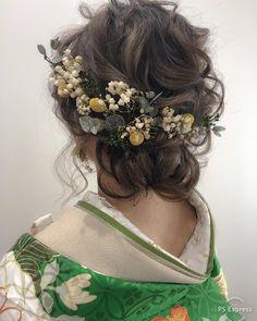 Wedding Hair Pins, Wedding Hair Flowers, Up Styles, Short Hair Styles, Wedding Hairstyles, Cool Hairstyles, Hair Inspiration, Wedding Inspiration, Japanese Wedding