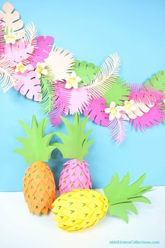 DIY pineapple party decorations