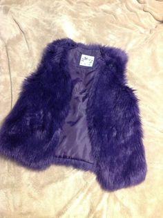 Justice Size 12 purple faux fur vest  #Justice #Vest