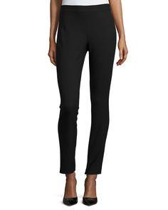 Talluva Faded Straight-Leg Pants, Black, Women's, Size: 4 - Theory