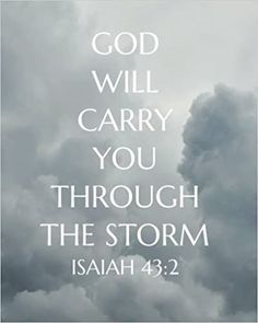 God will carry you through the storm: Bible Verse Notebook and Daily Planner Floral Composition Notebook 132 Pages 8