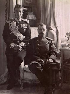 "imperial-russia: "" Emperor Nicholas II with his cousin Grand Duke Kyril Vladimirovich in Mauve room, Alexander Palace "" ГА РФ ф. 3 д. 30 л. Tsar Nicolas, Tsar Nicholas Ii, Grand Duchess Olga, History Magazine, Grand Duke, Imperial Russia, World War Ii, Roman, Pictures"