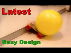 How to make a Balloon Powered Car - Very simple - Project for kids - YouTube