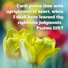Psalms 119:7 KJV