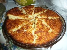 Coconut Custard Pie This makes its own crust 2 cups milk  2 1/2 cups flaked coconut  4 eggs beaten 1 teaspoon vanilla extract  3/4 cup all-p...