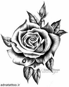 Rose Flower Tattoos, Rose Tattoos For Men, Hip Tattoos Women, Flower Tattoo Designs, Tattoos For Guys, Body Art Tattoos, Hand Tattoos, Small Tattoos, Sleeve Tattoos