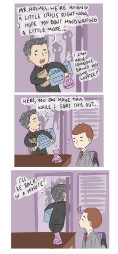 Such cute Mystrade... Mycroft's face was PRICELESS