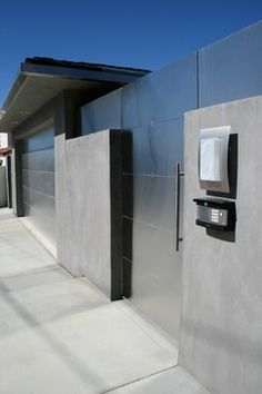 Exterior Design Ideas, Pictures, Remodels and Decor - stainless steel gate.