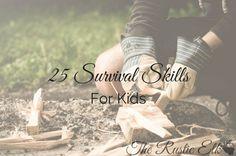 25 Survival Skills for Kids
