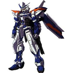 The MBF-P03R Gundam Astray Blue Frame 2nd Revise is the modified form of the MBF-P03 Gundam Astray Blue Frame Second L developed by the Serpent Tail with help form Lowe Guele. It first appeared in photo series Mobile Suit Gundam SEED VS Astray. The unit is piloted by Gai Murakumo.