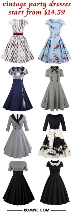 vintage party dresses from $14.59