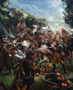 Battling the Hessians: American Revolutionary War by Mitchellnolte on DeviantArt American Revolutionary War, American Civil War, American History, American Soldiers, American Pride, American Indians, Native American, Conquistador, Military Art