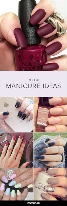 While you may have thought matte manicures hit their peak in 2010, the nail pros of Instagram are proving otherwise. Patterns, accents, and different nail shapes prove that this fun lacquer finish is anything but flat. We're especially partial to the nudes and soft pinks (they just look so chic when mattified!), but moody charcoal, cranberry, and plum hues are a sophisticated and edgy way to usher in chilly Fall weather. Get inspired by these magnificent manicures!