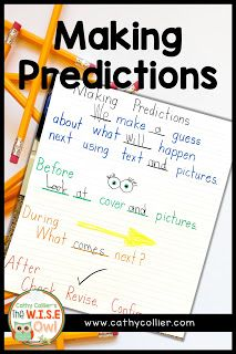 Making Predictions with Early Learners Making Predictions, Direct Instruction, Reading Comprehension Strategies, Reading Centers, Early Readers, Read Aloud, Anchor Charts, Vocabulary, Literacy