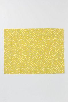 Reverse Dotted Placemat, Citron - Anthropologie.com