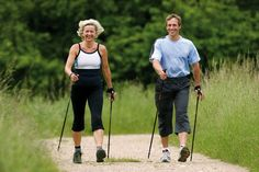 Walking Poles, Pose, My Balance, Nordic Walking, Low Impact Workout, Upper Body, Cross Training, Muscle, Sporty