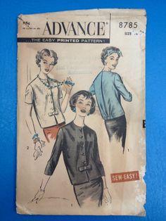 Vintage 1958 Advance 8785 Pattern // Women's by ElkHugsVintage, $15.00