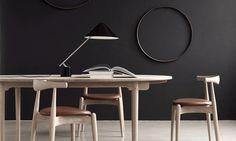 Inspiration Carl Hansen & Son; Elbow Chair (CH20) + The elliptical tabletop (CH338) + Swing VIP