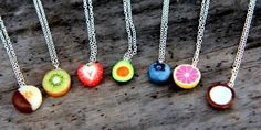 Most popular tags for this image include: fruit, necklace, jewelry and cute Crea Fimo, Polymer Clay Kawaii, Polymer Clay Charms, Polymer Clay Jewelry, Polymer Clay Creations, Bff Necklaces, Best Friend Necklaces, Friendship Necklaces, Cute Necklace