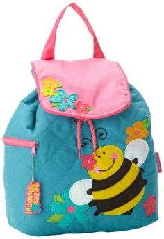 Stephen Joseph Quilted Backpack, Teal Bee: This little backpack is perfect for nursery, preschool, or a day at grandmas, the quilted cotton material is decorated with whimsical applique designs Little Backpacks, Kids Backpacks, Fun Projects, Sewing Projects, Articles Pour Enfants, Felt Books, Diy Hair Bows, Felt Patterns, Applique Designs