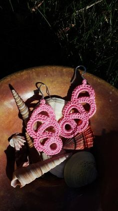 Pink Lace Drop Earrings