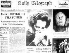 The IRA attempt to assassinate Prime Minister Margaret Thatcher & the British Cabinet
