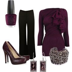 gorgeous tones of plum and black together