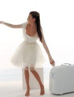 Transparent Full Sleeve Short White Dress