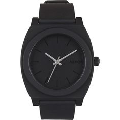 NIXON The time teller p watch ($75) ❤ liked on Polyvore featuring jewelry, watches, accessories, bracelets, black, filler, slim watches, buckle bracelet, crown jewelry e black stainless steel watches