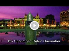 Learn English Idioms: hey you! are you As Cool as a Cucumber? Enjoy Arfur the Cucumber.