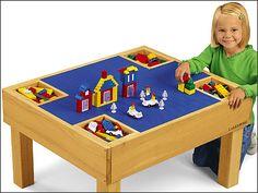 #LakeshoreDreamClassroom Brick-Building Activity Table