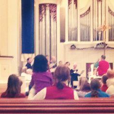 """I'm always so impressed with the #patience of children in worship."" -Julie S. #watchandwait"