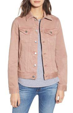 Ag Mya Denim Jacket In Sulfur Industrial Mauve Pink Denim Jacket, Tan Jacket, Denim Blazer, Pijamas Women, Japanese Denim, Classic Wardrobe, Boho Look, Minimal Fashion, Aesthetic Clothes