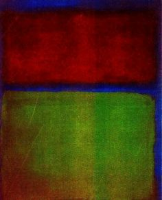 "Mark Rothko (Daugavpils 1903 _ New York 1970) ""Earth and Green"" 1955 (olio su tela) Museum Ludwig, Cologne, Germany"